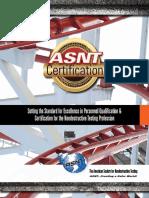 ASNT Certification Brochure