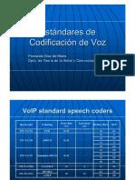 Estandares de Codificacion de Voz