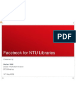 Facebook in NTU Libraries(010609)