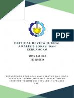 Makalah Critical Review Jurnal Analisis Lokasi dan Keruangan