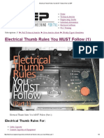 Electrical Thumb Rules