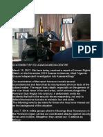 Statement by Uganda Media Centre ED Ofwono Opondo
