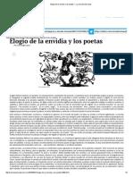 Elogio de La Envidia y Los Poetas — La Jornada Semanal