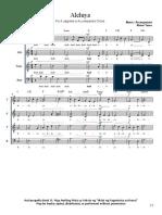 4. Aleluya SATB A cappella