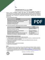 Comunicado Contrato Docente 2017