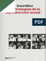 BOURDIEU, P. Las Estrategias de La Reproducción Social