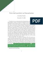 Notes on Demonetization
