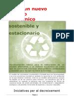 Hacia Un Nuevo Modelo Economico Sostenible y Estacionario