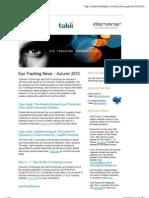 Objective Technology Eye Tracking News Autumn 2010