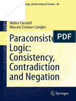 Paraconsistent Logic -  Consistency, Contradiction and Negation