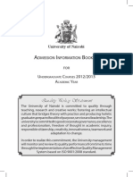 University of Nairobi Admission Information Booklet2012 2013