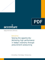 188Accenture Achieving High Performance in Todays Economy Through Procurement Outsourcing