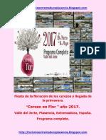 Cerezo en Flor 2017. Programa