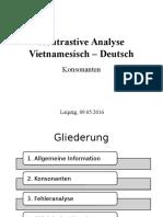 Kontrastive Analyse Vietnamesisch– Deutsch