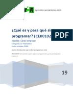 CE00102A Que Es y Para Que Sirve Programar