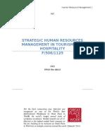 Human Resource and Tourism