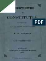 Despotismul Şi Constituţia Estractu Din Maĭ Multe Opere Politice