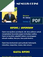 Pelatihan Menulis OPINI PMII Cabang Sambas, 15-03-2017