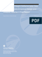 Using Falling Weight Deflectometer With Mechanistic-empirical, Vol 1