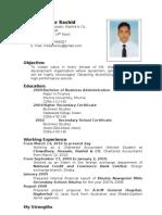 Curriculum Vitae of Md. Mamunur Rashid