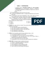 Apostila Física - Aula 02 - Calorimetria Exercícios