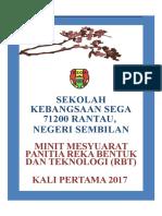 Minit Mesyuarat RBT Kali 1 2017