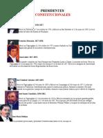 Presidentes Constitucionales de Honduras Reducido