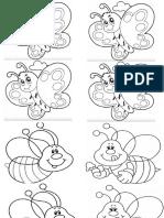 Mariposas y Abejas Dibujos