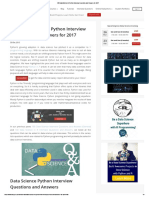 100 Data Science in Python Interview Questions and Answers for 2017