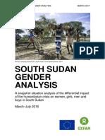 South Sudan Gender Analysis