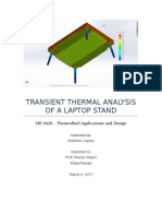 homework 4 - transient thermal analysis of a laptop stand