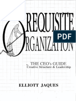 Jaques 1898 Resuisite Organization the CEO's Guide