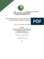 Proyecto Presupuesto en Los Hogares de La Parroquia de Anconcito 2016