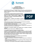 Edital n 01 2017 Programa de Pesquisa Iniciacao Cientifica