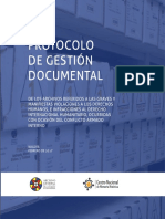 Protocolo Gestion Documental archivos violaciones derechos humanos