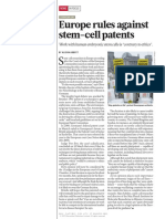 Europe and Stem Cell Parents