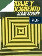 A. SCHAFF, Lenguaje y Conocimiento