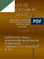 Ley de Educacion 18437 Compilacion