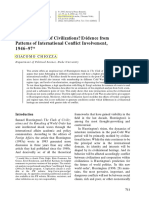 Is There a Clash of Civilizations? Evidence from Patterns of International Conflict Involvement - Giacomo Chiozza