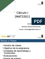 Presentación Clase N°1 MAT3301