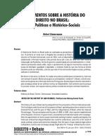 Apontamentos Sobre a História Do Direito No Brasil