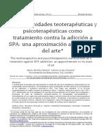 Artículo Teoterapia y Adicciones