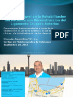 Manejo Integral en La Rehabilitacion Del Paciente Con LCA Parte 1