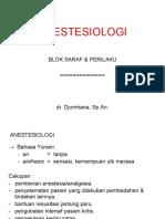 Anestesi 1 2 Anastesia Analgesia