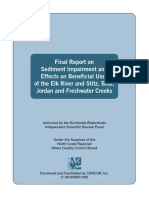 2002 Sediment Impairment and Effects on Beneficial Uses