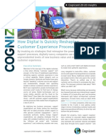 2015 Cognizant How Digital is Quickly Reshaping Customer Experience Processes