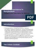 Urban Governance in Bangladesh - Politics, Service Delivery and Prescriptions for Reform