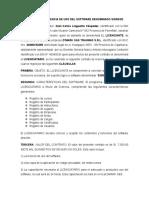 Contrato de Licencia de Uso Del Software Denominado Sisregd