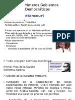 Primeros Gobiernos Democráticos