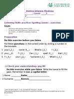 Spelling NamesListening Skills Practice1